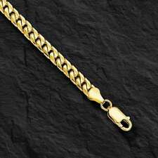 "10k Solid Yellow Gold Miami Cuban Curb Link Bracelet 8.5"" 5 mm 9 grams"