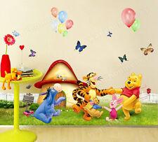 Winnie the Pooh Bär Meadow Entfernbarer Wandaufkleber Dekor Aufkleber