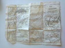 1818 Carta Geogrfica Itinerario Italiano: Viaggio dalla Francia in Italia Torino