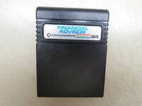 FINANCIAL ADVISOR    Cartridge Commodore 64 C64 SX64 C128 Tested Working