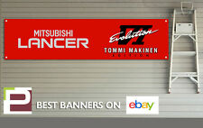Mitsubishi Lancer Evo IV Tommi Makinen Edition Garage Banner for Workshop, Evo