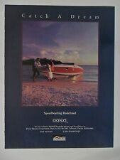 1986 Print Ad Donzi MerCruiser Speed Boating ~ Catch a Dream Wedding