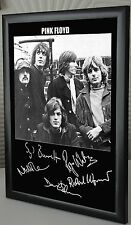 "Pink Floyd All Five Together Rare Framed Canvas Tribute Signed ""Great Gift"""