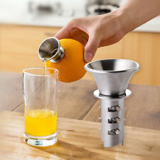 Funny Stainless Steel Fruit Vegetable Tools Lemon Juicer Manually Squeezers