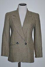 Jones New York Women's 100% Wool  Double Button Jacket Coat Houndstooth Size 2P