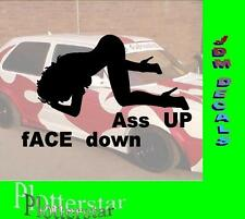 FACE down ASA up sesso porno Bitch Hater JDM Sticker Adesivo