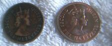 BRITISH  CARIBBEAN  TERRITORIES ONE 1955 AND ONE 1965 ONE CENT PIECES