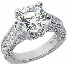 3 ct center I VS2 GIA certificate 3.83 ct Round Diamond 14k Gold Solitaire Ring