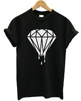 DRIPPING DIAMOND T SHIRT HIPSTER TUMBLR LOGO SWAG FRESH DOPE TOP MEN WOMEN GIRLS