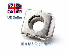 10 x m5 Cage Nut Console Server High Tensile Steel Nickel Plated FREE UK Postage