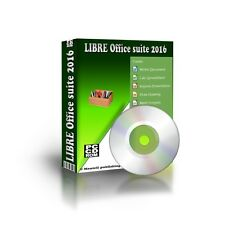 2016 Libre Office Suite Full Version for PC w/ Microsoft Windows 7 8 10 XP CDROM