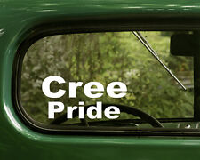 2 CREE PRIDE STICKERs Native American Decal for Car Truck Laptop Window Bumper