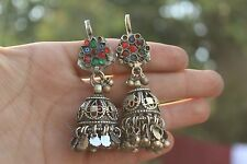 Pair of Afghan Ethnic Tribal Authent Antique Banjara Gypsy Old Hair Tika cuff