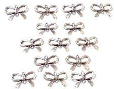 10 Connecteurs Pendentifs Charme Forme Nœud Papillon 14 x 21 mm