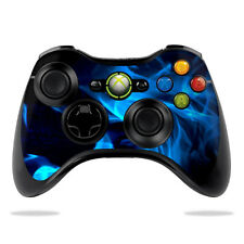 Skin Decal Wrap for Microsoft Xbox 360 Controller sticker Blue Flames
