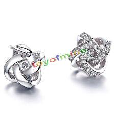 925Silver Autriche Boucles d'oreilles Crystal Ear Stud bijoux de mode Xmas