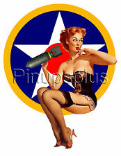 Single Bomber Pinup Girl Nose Art Waterslide Decal Sticker S3 by Pinupsplus