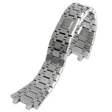 28mm DSilver Solid Stainless Steel Wrist Band Bracelet Strap Men For AP Watch