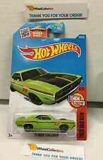 '71 Dodge Challenger #104 * Kmart GREEN * 2016 Hot Wheels * H110