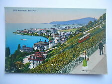 """CPA """"Montreux - Bon port"""""""