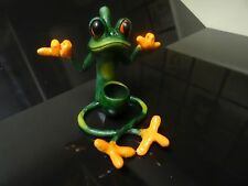 Confused Frog Tobacco Pipe. 5 Free svcreens   Contains No Glass ( PM1504 )