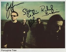 Porcupine Tree Fully  Signed 8 x 10 Photo Genuine In Person