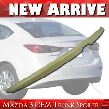 Painted MAZDA 3 OE ABS Trunk Lip Spoiler Rear Wing 2014-2016 4DR Sedan §