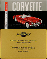 1956 Corvette Owners Manual with Envelope 56 Chevrolet Owner Operations Guide