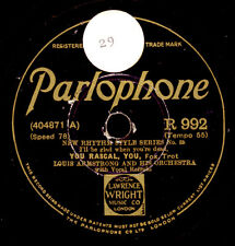 LOUIS ARMSTRONG & HIS ORCH. You rascal, you / JACK PURVIS  Schellackplatte X2764