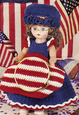PATRIOTIC Betsy Ross Doll Dress Outfit/Crochet Pattern INSTRUCTION ONLY