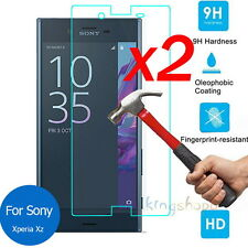 2Pcs 9H HD Premium Tempered Glass Screen Protector Film Guard For Sony Xperia XZ