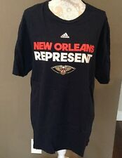 New Orleans Represent Blue & Red With Pelican Tshirt Adidas XL Man Or Woman