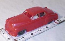 MARX 1955 RED CADILLAC PLASTIC TOY WOODEN WHEEL CAR