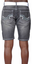 Men's Cargo Denim Stretch Shorts Indigo People W/ Belt -9 Colors- Free Shipping
