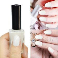 1 Bouteille de Vernis Normal à Ongles Couleur Pur Blanc Nail Art Polish 15ml