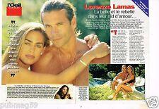 Coupure de presse Clipping 1996 (4 pages) Lorenzo lamas