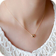 Fashion Gold Heart Pendant Necklace - Women Jewellery Chain Choker Girls Choker
