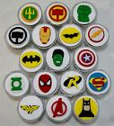 SUPERHERO CUP CAKE TOPPERS X 12 - NO DISC - MAGNIFICENT