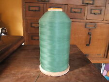 Vintage WOODEN SPOOL Intrinsic 4 Cord Green Cotton Thread