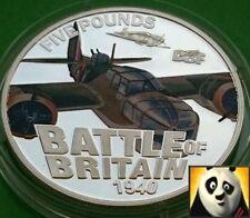 2010 GUERNSEY £5 FIVE POUND BATTLE OF BRITAIN BRISTOL BLENHEIM SILVER PROOF COIN