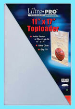 10 ULTRA PRO 11x17 TOPLOADERS NEW Photo Collectible Rigid Document Art Poster