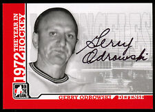 09 ITG 1972 THE YEAR IN HOCKEY WHA AUTO AUTOGRAPH GERRY ODROWSKI L A SHARKS