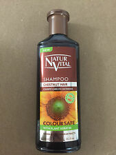 NATURVITAL COLOURSAFE SHAMPOO  300 ML FOR CHESTNUT HAIR WITH PLANT KERATIN