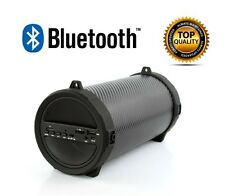 BLUETOOTH PORTABLE SPEAKER WIRELESS BASS STEREO FOR PC NEW TABLET RECHARGEABLE