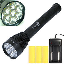 TrustFire TR-J18 7x Cree XML T6 LED 8500 Lumen Torch Flashlight+3x 26650+Charger