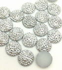 New hot 30PCS Resin 10mm Flash Round Flatback Scrapbooking For DIY Craft Silver&