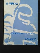 YAMAHA YZ250FT Owner's service manual in good condition LOOK!