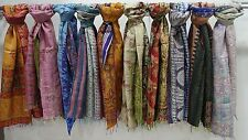 30 Pcs. Wholesale Lot Kantha Silk Scarf Assorted Design Wrap Handmade Shawl Bulk