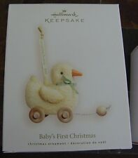 Hallmark 2007 Baby's First Christmas Pull Toy Duck NIB