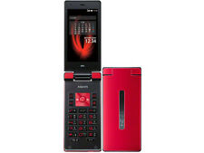 AU KDDI SHARP SHF31 AQUOS K ANDROID 4.4 FLIP PHONE CELL UNLOCKED RED NEW 007SH